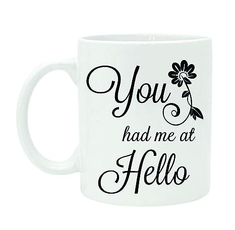 You Had Me At Hello Quote Extraordinary Amazon You Had Me At Hello Printed Quote Mug White Ceramic