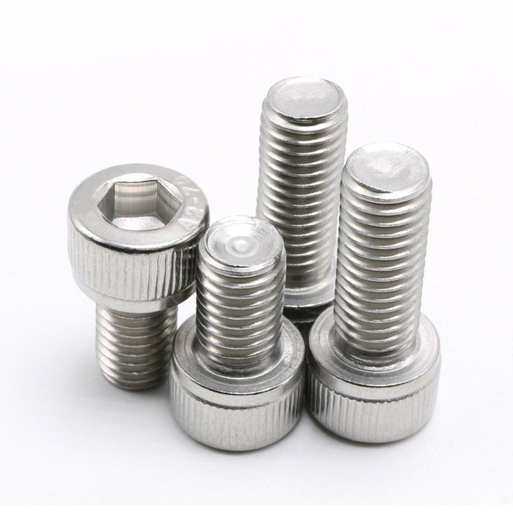 1//4-20 x 3//4 1//4-20 Hex Socket Head Cap Screws,304 Stainless Steel,Knuled Head,20 Pieces