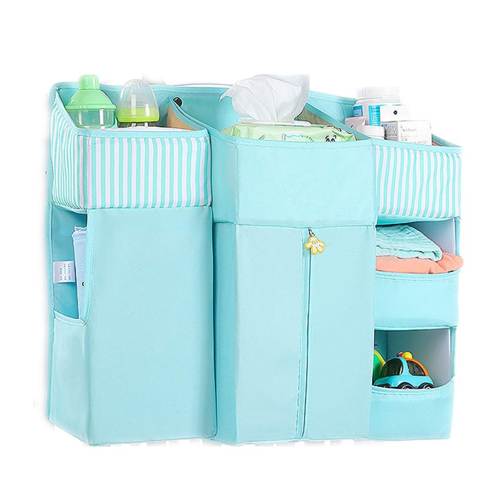 Bed Hanging Organizer Baby Diaper Storage Nursery Organizer Hanging Diaper Organization, Multifunctional Baby Essentials Storage Bag, Hanging On Crib Changing Table Wall For Baby Cot Bunk Bed by Gralet-home