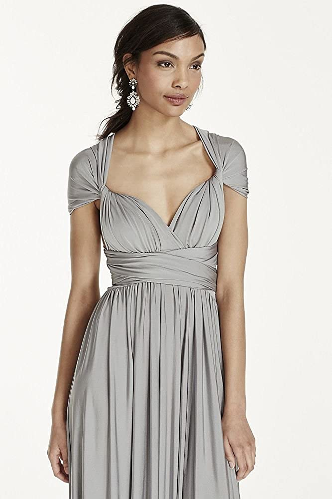 1f36b455b06 David's Bridal Long Jersey Style-Your-Way 2 Tie Bridesmaid Dress Style  W10502 at Amazon Women's Clothing store: