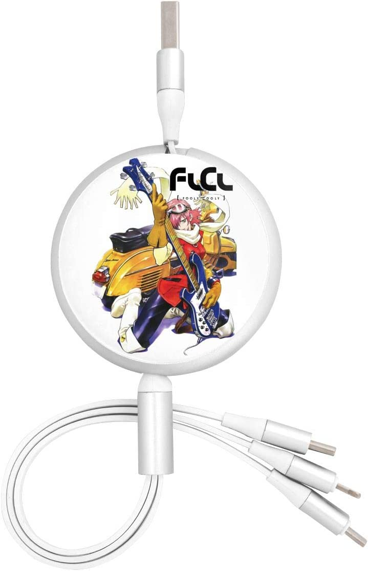 N//C FLCL Anime Round Three-in-One Charging Cable TPE Cable Aluminum Alloy Shell Pc Surface