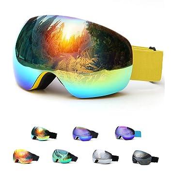 Amazon.com: HesVap - Gafas de esquí para snowboard, para ...