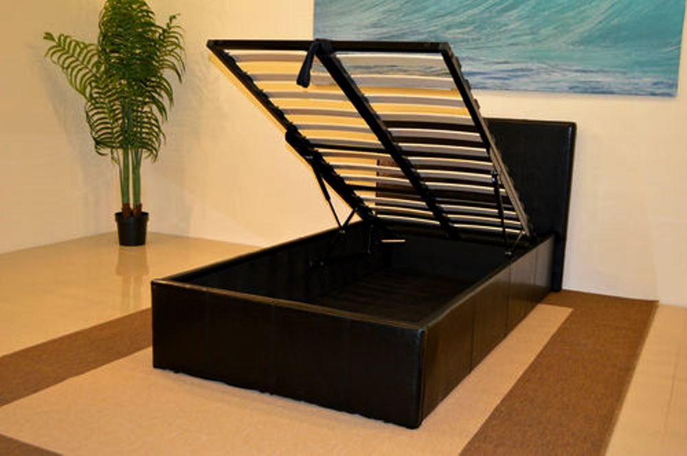 Black 3ft Single Storage Ottoman Gas Lift Up Bed Frame TIGERBEDS BRANDED  PRODUCT: Amazon.co.uk: Kitchen U0026 Home