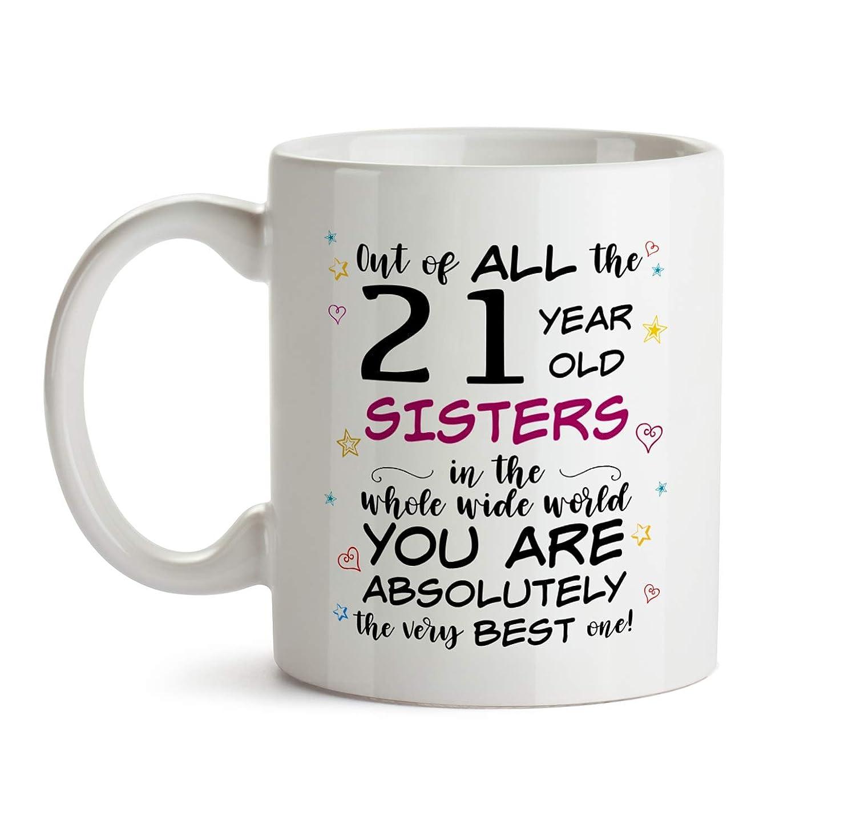 21st Sister Birthday Gift Mug