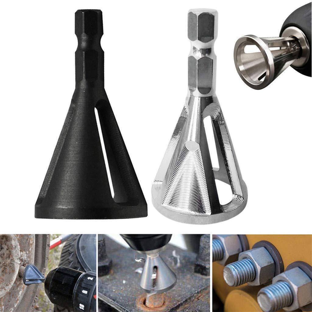 Amazon.com: Dirance 2PCS chamfering Tool bit deburring Bolt Repair Alloy Steel Material Hexagon six-Slot Shape, Durable Repair Tool (2PCS Silver): Sports & ...