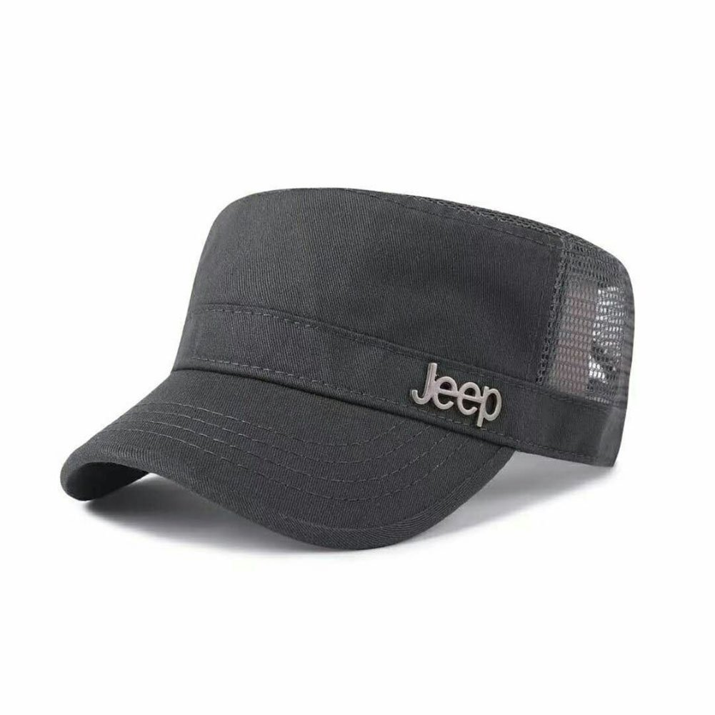 Jeep Cotton Mesh Basi Military Hat Summer Peaked Flat Top Army Military Corps Baseball Cap Buckle Hat
