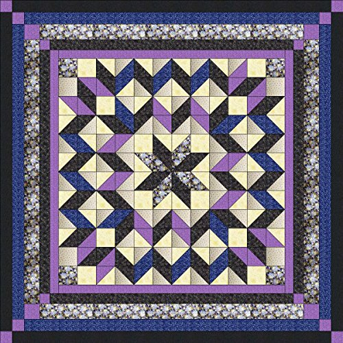 (Easy Quilt Batik/Galaxy Star/Blue/Lilac/Black/Queen/EXPEDITED SHIPPING)