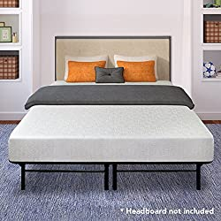 "Best Price Mattress 7"" Gel Memory Foam Mattress & 14"" Dual-use Steel Bed Framefoundation Set, Twin"