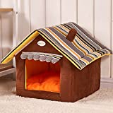 Soft Pet Products Dog Kennel Pet Home Washable Puppy Kitten Carrier Shelter Indoor Outdoor Dog House (M)