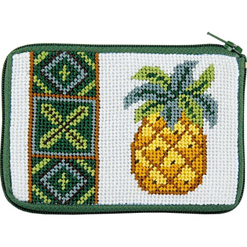 Pineapple Needlepoint Coin Purse-- Stitch & ()