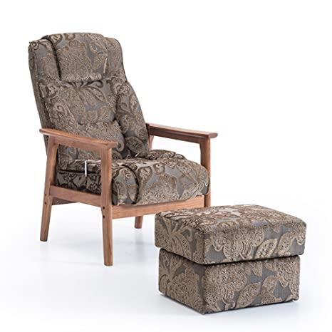 Amazon.com: Barstools MAZHONG - Sillón moderno de tela para ...