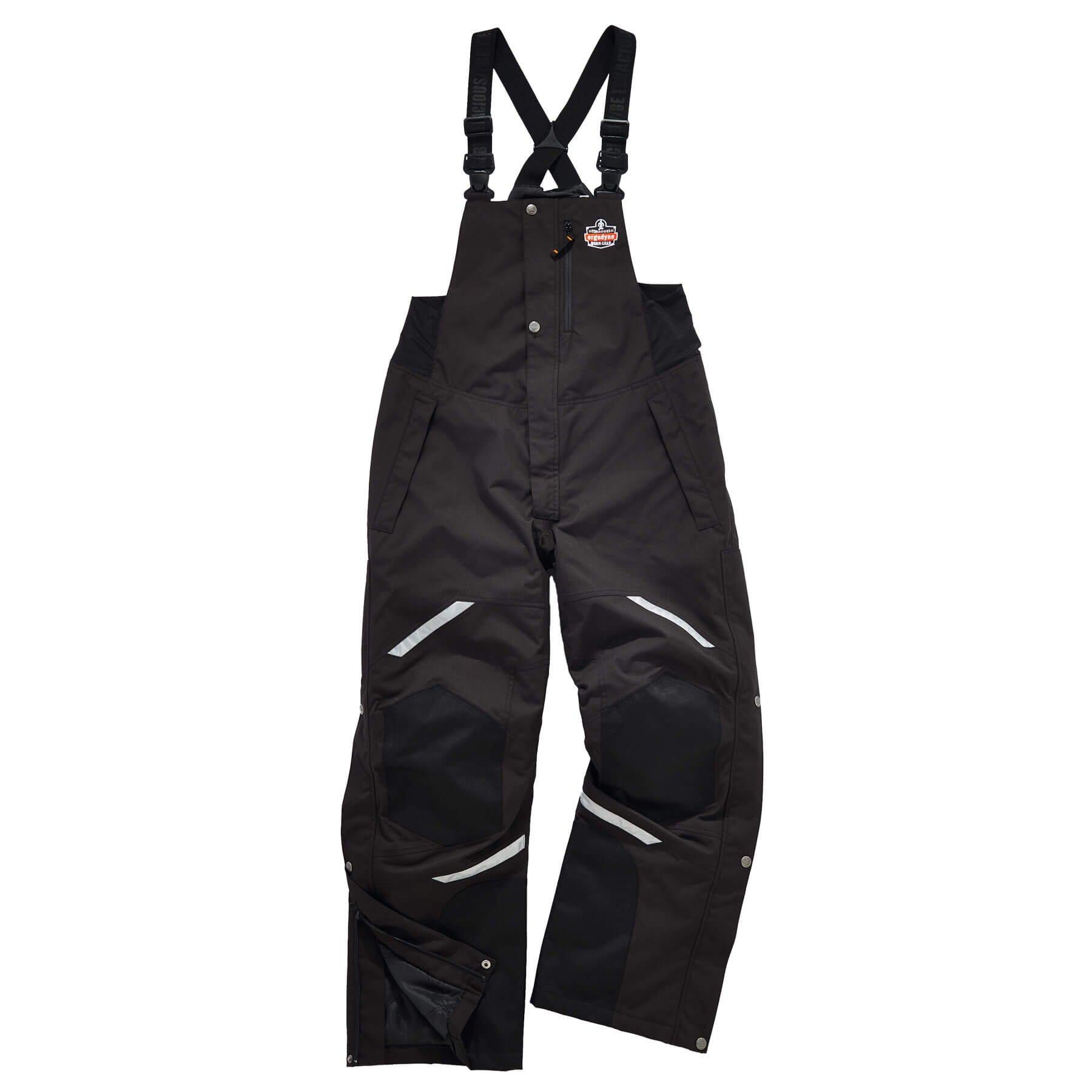 Ergodyne N-Ferno 6471 Men's Winter Thermal Work Bib Overalls, Black, Large by Ergodyne (Image #2)