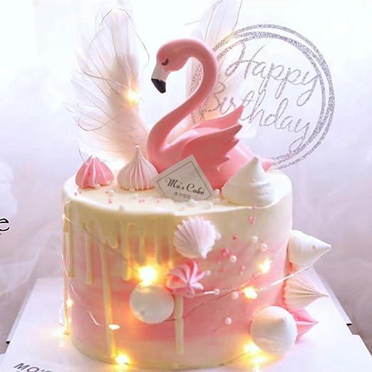 Decoración para tarta rosa flamenco para boda, fiesta ...