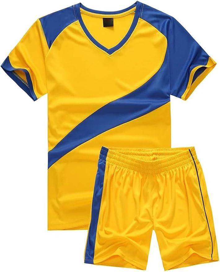 BOZEVON Hombres Niño Trajes de Fútbol Ropa Deportiva Conjunto de Camiseta y Pantalones Cortos Traje de Competencia de Entrenamiento Deportivo: Amazon.es: Ropa y accesorios
