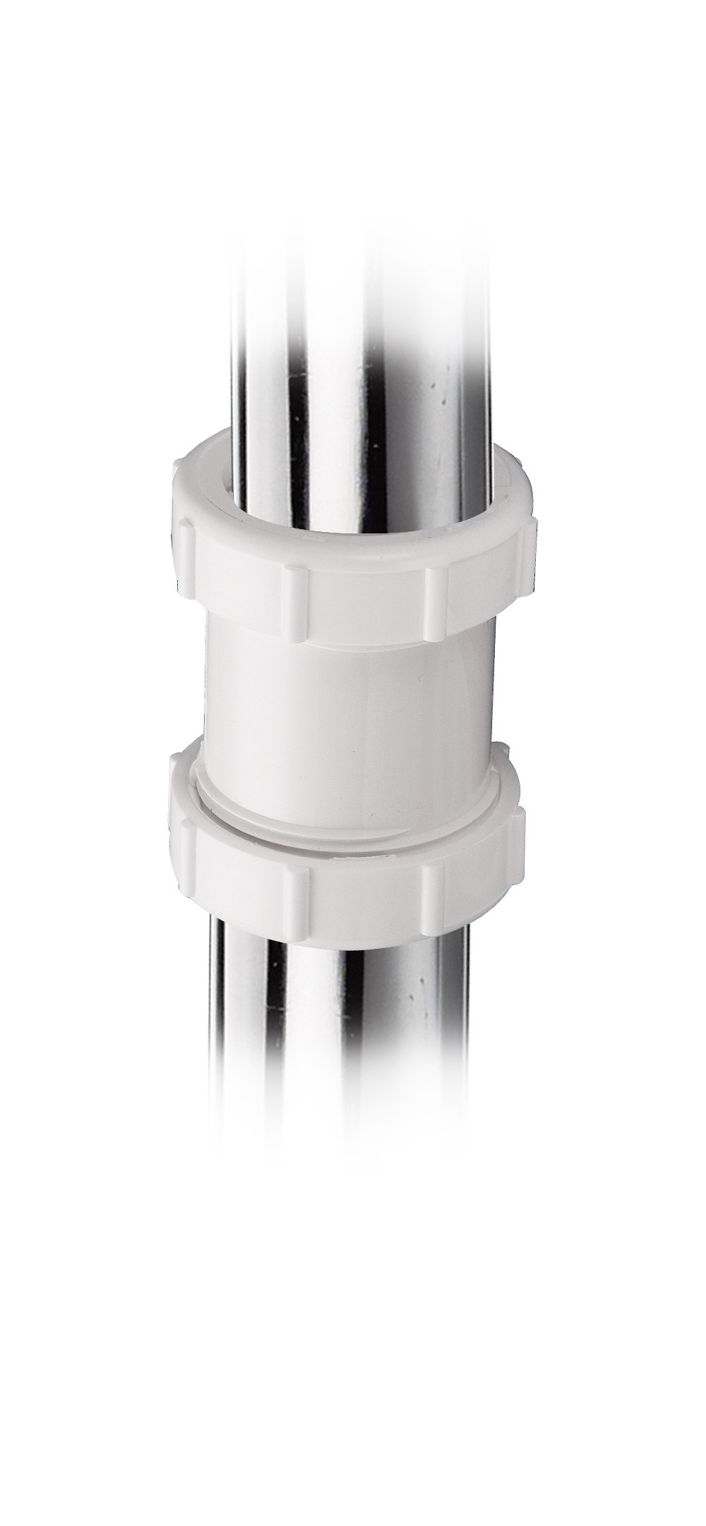 Keeney 46WK 1-1/2-Inch or 1-1/4-Inch by 1-1/2-Inch Straight Extension Coupling Trap Adapter, White