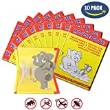 10 PACK/Mouse Glue Boards,Sticky Traps for Mice,Large Rat Glue Pads,Extra Sticky Traps with Peanut Butter Large Capture Area,Catch Mouse Indoor and Outdoor