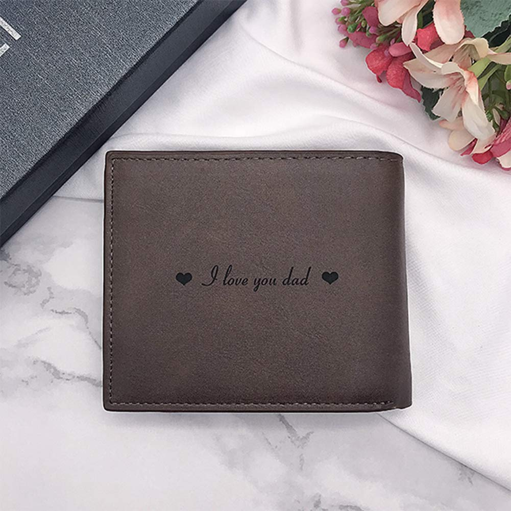 Personal Men Custom Photo Leather Wallet Perfect Personalized Fathers Day Gift color,size