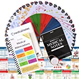 Medical Notes 67 Medical Reference Cards (3.5'' x 5'' Cards) for Internal Medicine, Surgery, Anesthesia, OBGYN, Pediatrics, Neurology, and Psychiatry - Waterproof Full Color cards