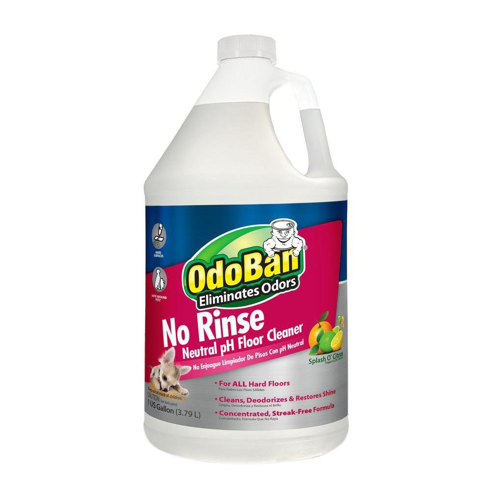 OdoBan Professional Series Neutral pH No Rinse Floor Cleaner Concentrate, 4 Gallons by OdoBan