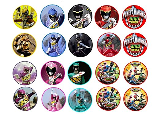 20 Power Rangers Dino Charge ~ Cupcake Topper