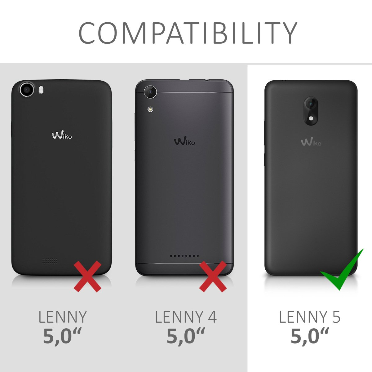 kwmobile TPU Silicone Case for Wiko Lenny 5 - Soft Flexible Shock Absorbent Protective Phone Cover - Black Matte