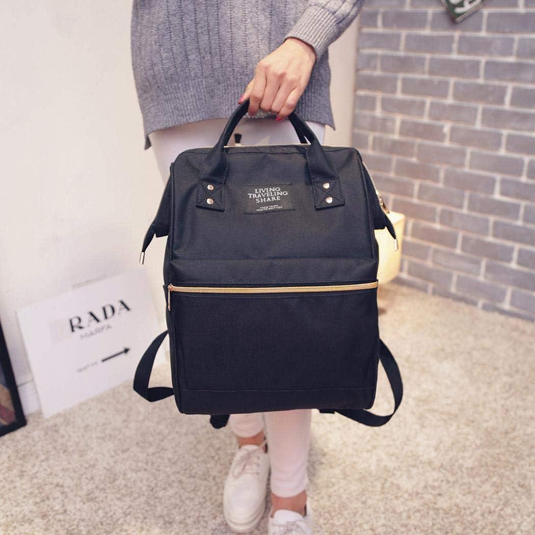 Yealsha Women Casual Mommy Feeding Bottle Backpack Zipper Student Schoolbag Backpacks