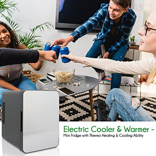 NutriChef Portable Mini Fridge - Personal Compact Electric Cooler and Warmer Box with 4 Liter / 6 can Storage, Includes 110V & 12V AC/DC Power for Home, Office, Car, RV & Boat by NutriChef (Image #6)'
