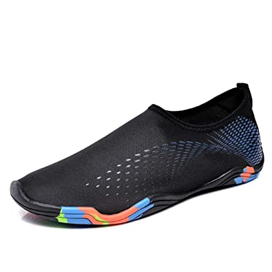 c188b219f107 Water Shoes Men Women Aqua Shoes Barefoot Quick-Dry Swim Shoes Boating  Walking Driving Beach
