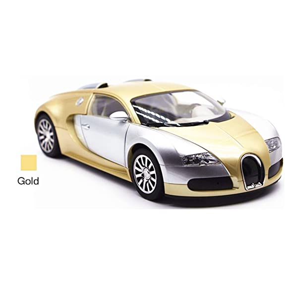 1:18 Bugatti Veyron Super Sport Car Model Bluetooth Speaker (Gold)