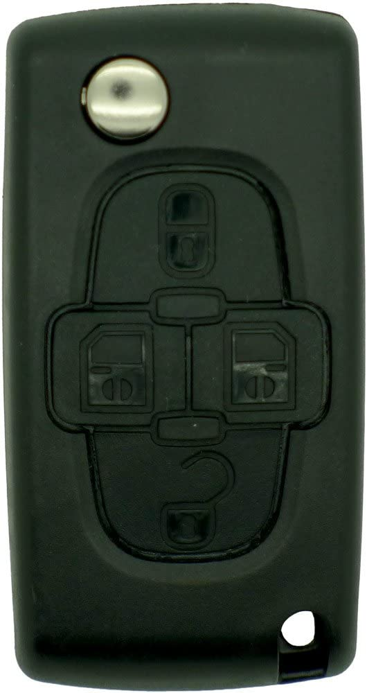 Chequers Motorstore Peugeot 4 Button 1007 Citroen C8 Remote Key Fob HU83 Groove Blade repair