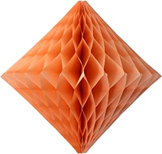 product image for 3-Pack 12 Inch Peach Honeycomb Diamond Decoration