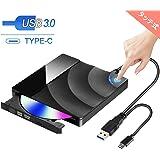 [2019最新版] Karsspor USB 3.0外付け DVD ドライブ DVD プレイヤー ポータブルドライブ CD/DVD読取・書込 タッチポップ式 高速 静音 超スリム DVD±RW CD-RW USB3.0/2.0 Window/Mac OS両対応