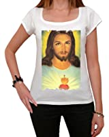 Jesus Sacred Heart T-shirt Femme,Blanc, t shirt femme,cadeau