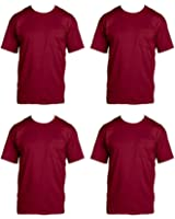 Fruit of the Loom Mens 4 Pack Pocket Tee fgdfg Maroon X-Large
