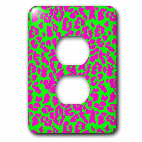 Cassie Peters Animal Print Abstract - Neon Cheetah Abstract by Angelandspot - Light Switch Covers - 2 plug outlet cover (lsp_240289_6) - Peter Abstract Print