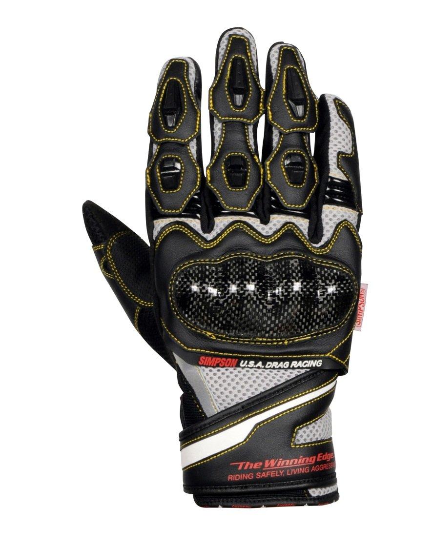 シンプソン(SIMPSON) バイク用グローブ Mesh Gloves(メッシュグローブ) シルバー LL SG-8151 B079YFBD3D LL シルバー シルバー LL