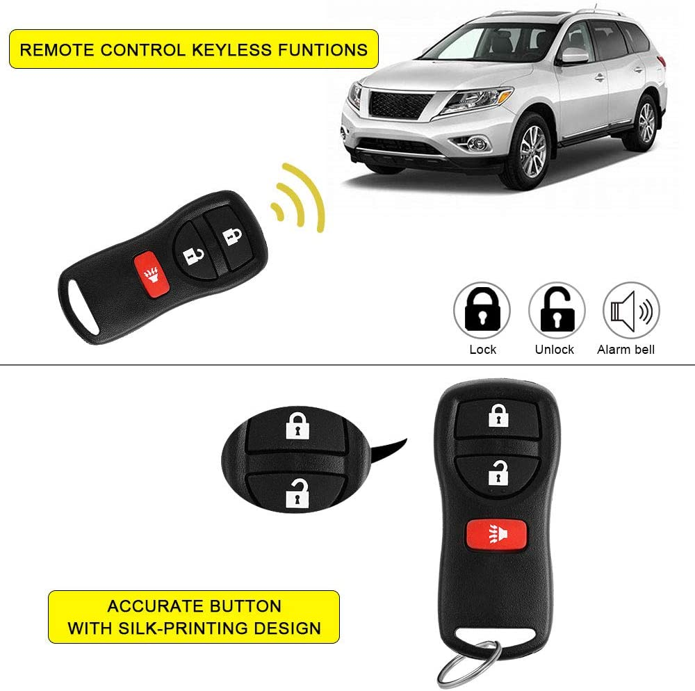 YITAMOTOR Key Fob Replacement Compatible for Nissan Titan Pathfinder Xterra Versa Keyless Remote Control for KBRASTU15