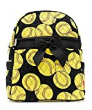 Softball Sports Print Quilted Backpack Handbag