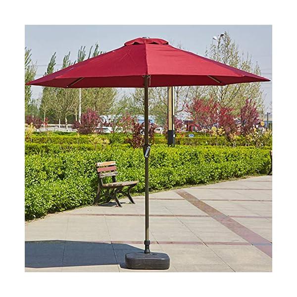 MENG Ombrellone Esterno da 2,5 M Ombrellone Tondo di Ferro Ombrelloni con Protezione Solare E UV Ombrelloni da Giardino… 7 spesavip