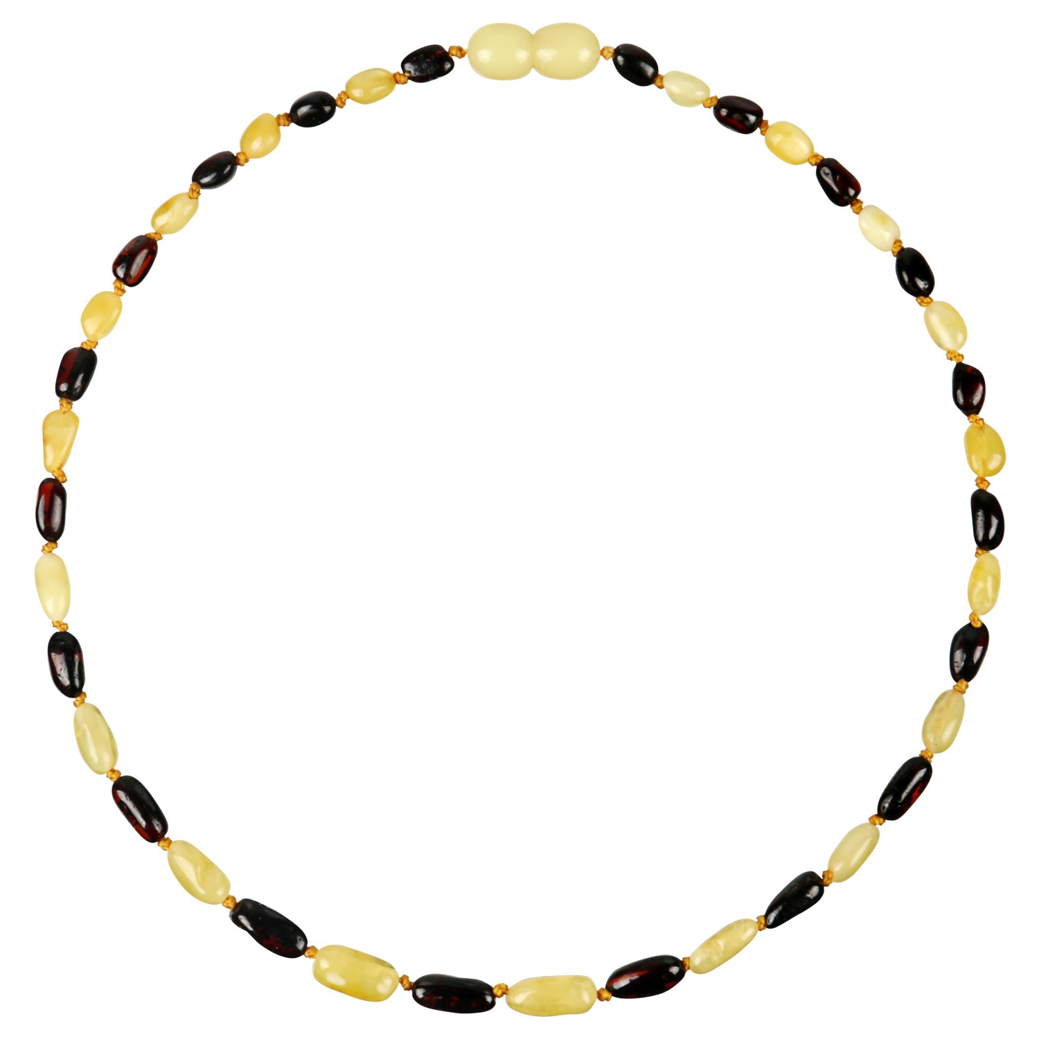 [Stock Clearance] Amber Teething Necklace for Toddler Baby (Unisex – Cherry/Milk – 12.5 inches), 100% Authentic Organic Baltic Amber Teething Necklace for Infant & Toddler