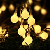 Icicle Globe Lights String, 33ft/10m 100 LED String Lights, Safe Low Voltage DC, String Light Bulbs for Home, Patio, Wedding, Xmas, Holiday Decoration (Warm White)