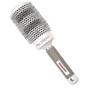 Ckeyin 53mm Hair Styling Ceramic Round Brush Hair Comb Hairdressing Salon Brush