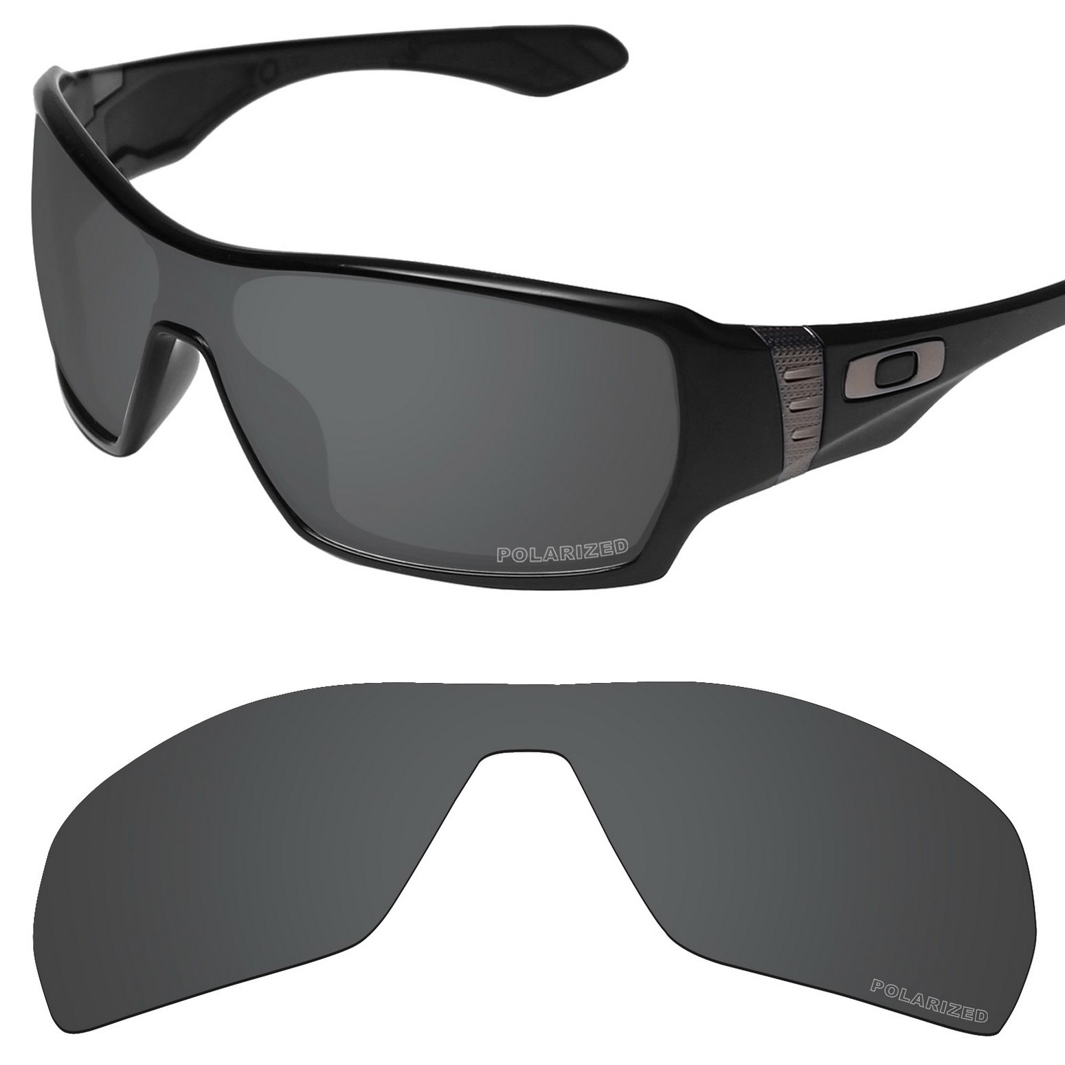 Tintart Performance Replacement Lenses for Oakley Offshoot Sunglass Polarized Etched-Carbon Black