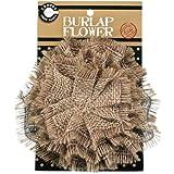 Canvas Corp Burlap Flower, Natural