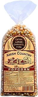 product image for Amish Country Popcorn | 1 lb Bag | Extra Large Caramel Type Popcorn Kernels | Old Fashioned with Recipe Guide (Extra Large Caramel Type - 1 lb Bag)