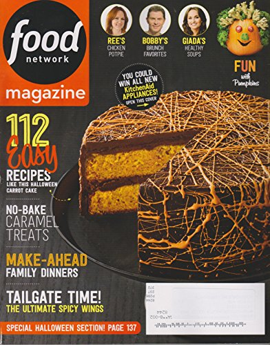 Food Network October 2015 Special Halloween Section; 112 Easy (Halloween Food Recipes Food Network)