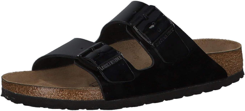Birkenstock Women's Arizona Patent Narrow Fit Sandal Black
