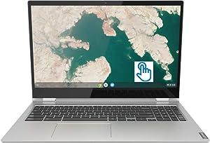 "Lenovo C340 15.6"" FHD LED-Backlit Touch-Screen 2-in-1 Chromebook, Intel Pentium Gold 4417U, 4GB Memory, 64GB eMMC Flash Memory, Wireless-AC, Bluetooth, USB 3.1 Type C, Webcam, Media Reader, Chrome OS"