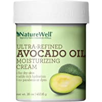 NatureWell Avocado Oil Antioxidant-Rich, Paraben and Dye Free, Moisturizing Cream for Face and Body, 16 oz.