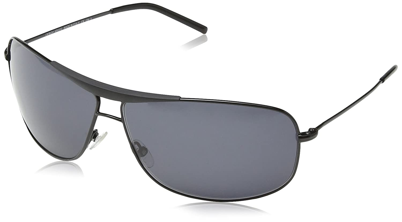 Giorgio Armani - Gafas de sol Aviador GA 887/S, Black Gunmetal Frame / Dark Grey Lens
